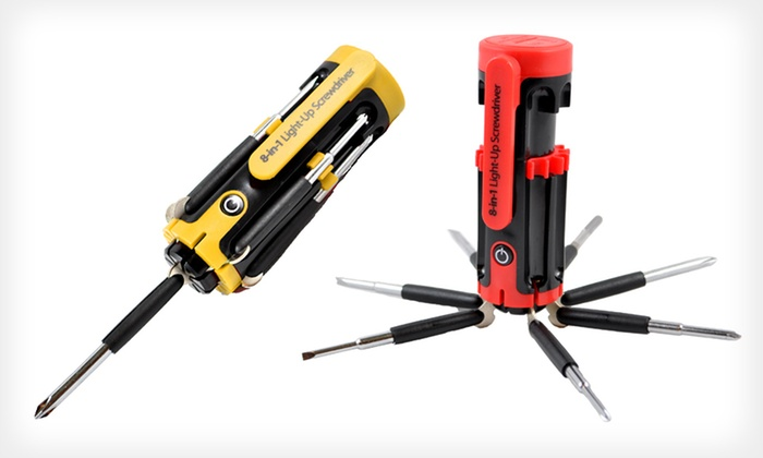 Perfect Solutions Light-Up Screwdriver: $12 for a Perfect Solutions 8-in-1 Light-Up Screwdriver in Red or Yellow ($24.99 List Price). Free Returns.