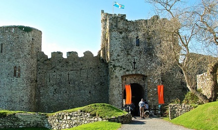 Manorbier Castle Entry for Two Adults or Family of Four