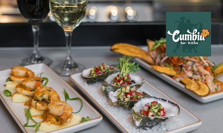 $39 for Choice of Any Three Tapas to Share and Glass of Wine Each for Two People at Cumbia Bar - Kitchen (Up to $79.80)