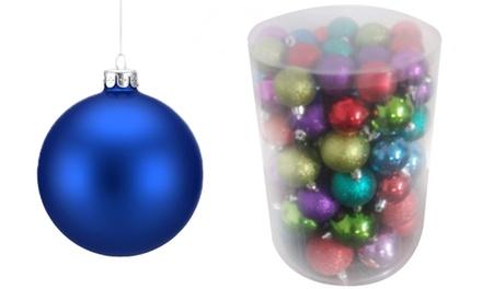 Set van 72 decoratieve kerstballen voor € 14,99 korting