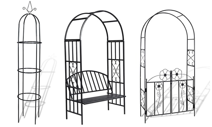 Archi e torri per piante rampicanti groupon - Archi per giardino ...