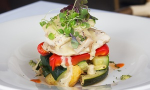 Buffalo Bar & Grill - Princes Wharf: Two-Course Waterfront Dinner or Lunch for 2 ($59), 4 ($115) or 8 People ($229) at Buffalo Bar & Grill (Up to $392 Value)