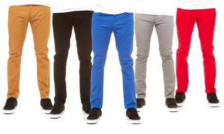 Vertical Sport Men's Stretched Slim Fit Chino Pants