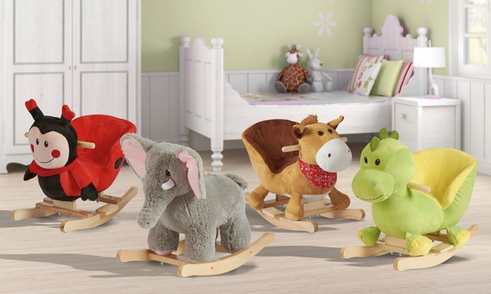 Groupon Goods Global GmbH: Siège à bascule en bois en forme d'animaux