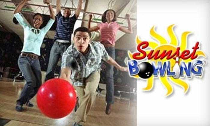Sunset Lanes Bowling - San Marcos: $5 for Two Games, Plus One Pair of Rental Shoes, at Sunset Lanes Bowling in San Marcos