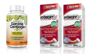 2-Pack of Hydroxycut Pro Clinical with Bottle of Garcinia Cambogia