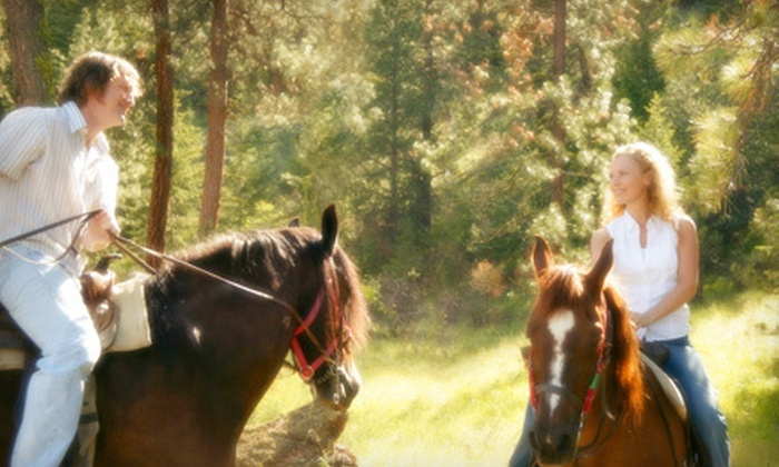 Sleepy Sheep Ranch - Whitewright: Three-Hour Trail Ride with Cowboy Breakfast or Dinner for Two at Sleepy Sheep Ranch in Whitewright (Up to 52% Off)