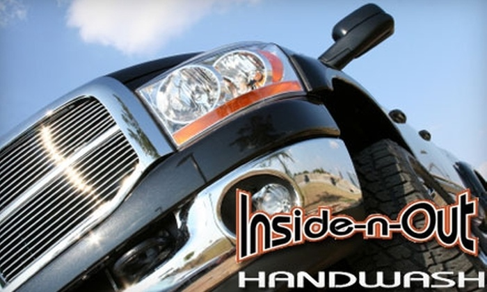 Inside-n-Out Handwash - Town and Country: $35 for Two Full-Service Interior and Exterior Hand Car Washes, Two Exterior Treatments, and One Rain-X Treatment at Inside-n-Out Handwash ($73 Value)