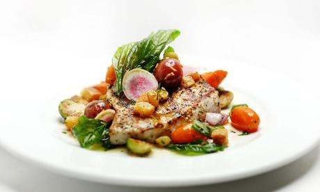 Menu di pesce da 4 portate e calice di vino per 2 o 4 persone da Terrazza 0[2]9 – Ristorante (sconto fino a 76%)