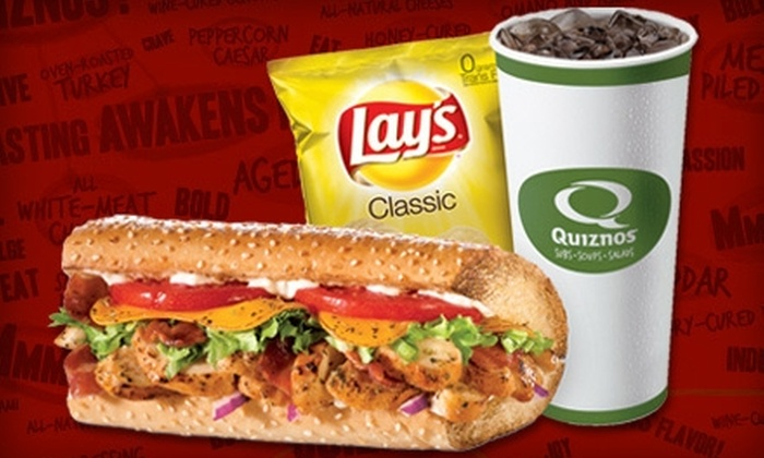 Quizno's - Northeast Pensacola: $5 for $10 Worth of Subs and Sips at Quiznos