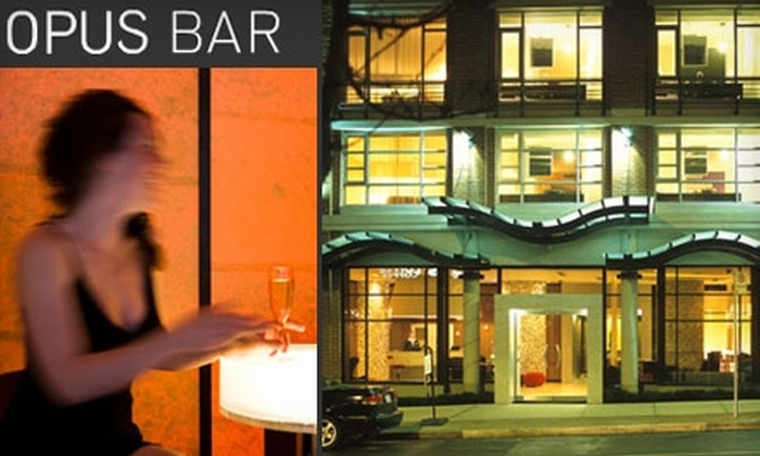 OPUS Bar - Downtown Vancouver: $20 for $40 Worth of Upscale Bar Snacks and Cocktails at OPUS Bar