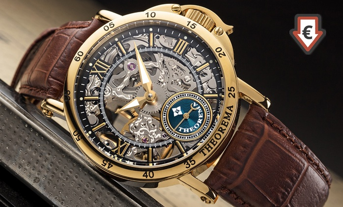 Theorema Mechanical Men's Skeleton Casablanca Watch with 17 stones for £225 With Free Delivery