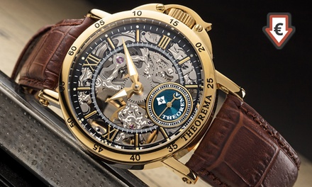 Theorema Mechanical Mens Skeleton Casablanca Watch