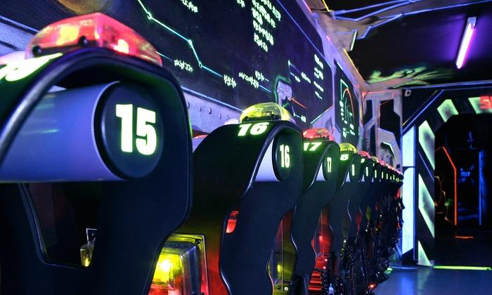 3 Lasertag-Spiele á 15 Min. inkl. Ausrüstung für bis zu zehn Personen bei Lasermaxx Oberhausen (bis zu 25% sparen*)