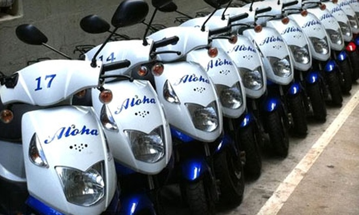 Aloha Activities - Waikiki: $25 for a 24-Hour Moped Rental at Aloha Activities ($50 Value)