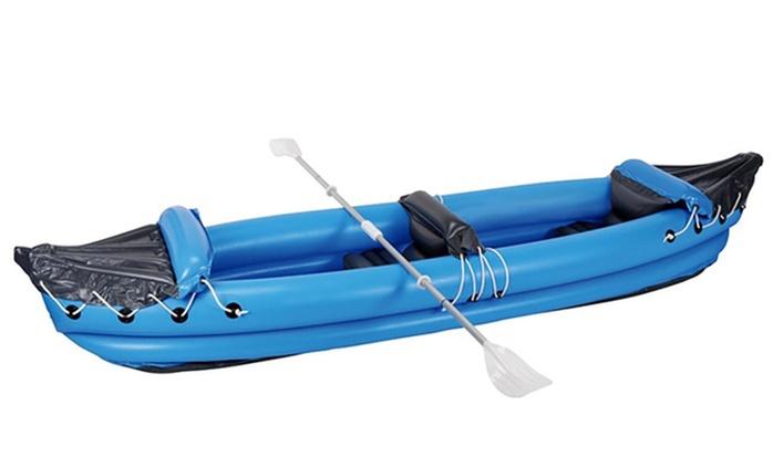 Canoa a 2 posti gonfiabile con pagaia e kit di riparazione