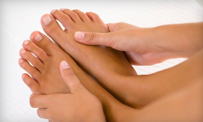 Shie'ree's Natural Nail Care - Bolton Hill,Central Baltimore,Downtown,Mount Royal: Mani-Pedi, Choice of One-Hour Hot-Stone, Swedish, or Deep-Tissue Massage, or Package with Both at Shie'ree's Natural Nail Care (Up to 65% Off)