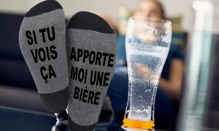 1, 2 ou 3 paires de chaussettes Apporte moi une Bière