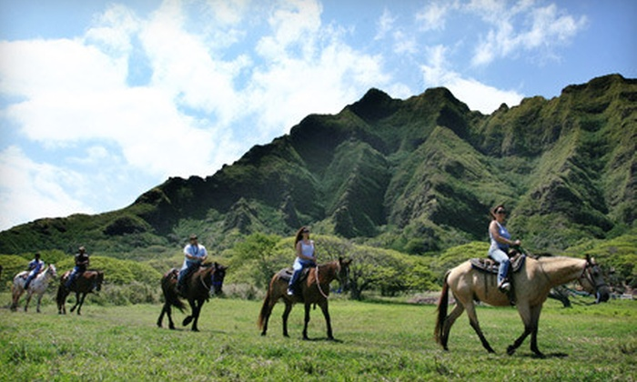 Kualoa Ranch - Kaneohe: All-Access Tour Passes with ATV or Horseback Rides at Kualoa Ranch (Up to 75% Off). Four Options Available.
