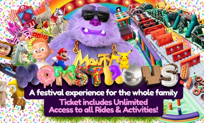 Monstrous Creations Family Festival with Unicorns, Inflatable obstacle Course, Arts & Crafts, 29 July (Up to 38% Off)