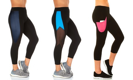 S2 Women's Activewear Leggings Mystery Deal. Plus Sizes Available (2-Pack)