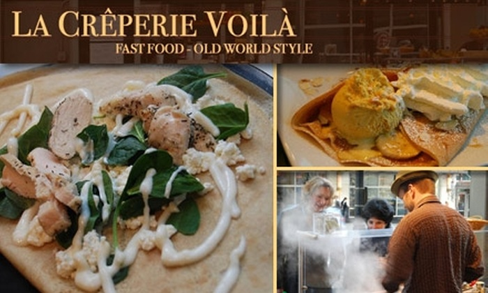 La Crêperie Voilà - Central Business District: $5 for $10 Worth of Sweet and Savory Crêpes and Drinks at La Crêperie Voilà