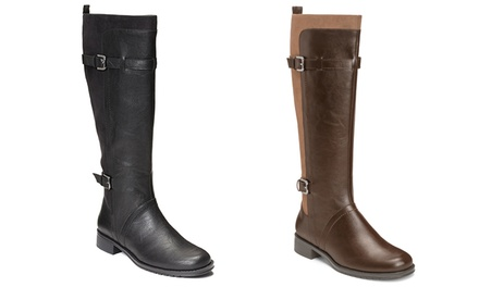 Aerosoles Women's Riding Boots with Extendable Calf and Memory Foam (Sizes 6 & 6.5)