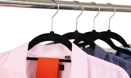 $29 for a Set of 50 Velvet Coat Hangers with a Tie Bar