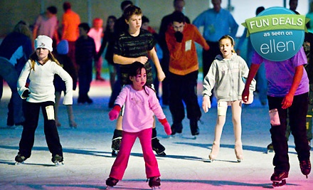 2 Admissions (up to a $7 value ea), 2 Skate Rentals (up to a $4 value ea), and Dessert (up to an $8 value, $30 total value) - Ice Den in Scottsdale