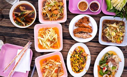 image for Two-Course Thai Meal with Rice for Two or Four at The Rose Inn (Up to 45% Off)