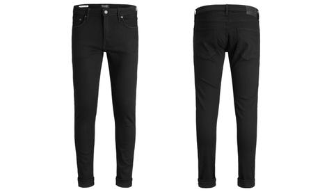 Groupon DE Jack & Jones Slim-Fit-Jeans für Herren Modell: Glenn Felix AM 046 in Schwarz