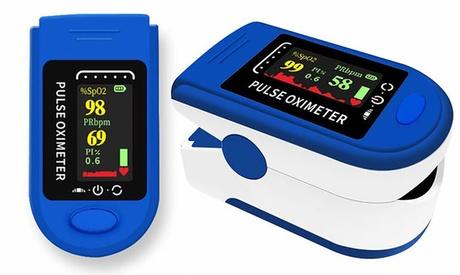 Monitor de oxígeno en sangre y de frecuencia cardíaca con la punta del dedo