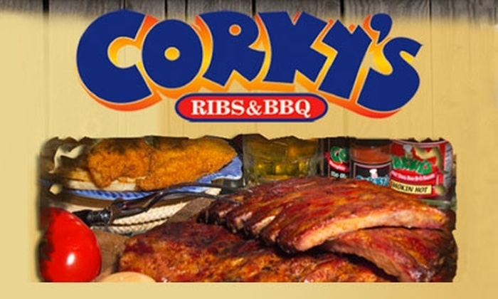 Corky's Ribs & BBQ - Brentwood: $20 for $50 Worth of Smokehouse Fare at Corky's Ribs & BBQ