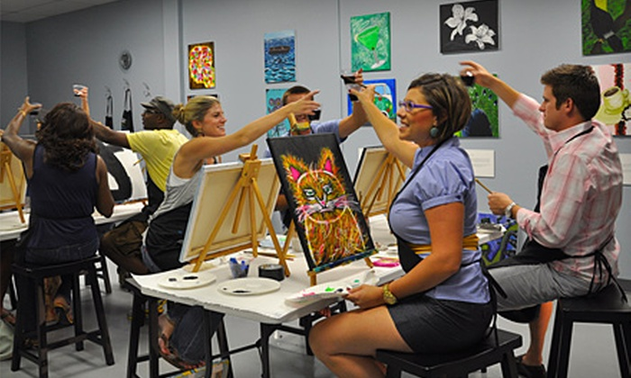 The Wine Palette - Plaza Midwood: $17 for a Two-Hour BYOB Painting Class at The Wine Palette ($35 Value)