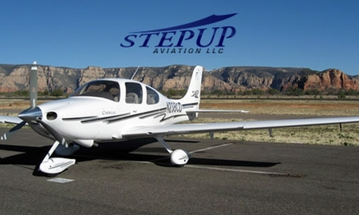 Step Up Aviation - Austin: $99 for an Intro to Small-Aircraft Flying Lesson with Step Up Aviation ($199 Value)