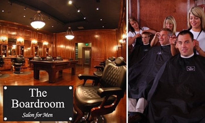 The Boardroom Salon for Men - Town And Country Estates: $20 for the Benchmark Hair Service Package at The Boardroom Salon for Men in Winston-Salem ($45 Value)