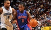 Detroit Pistons - Auburn Hills: Two Tickets and More to the Detroit Pistons Home Game Against the Toronto Raptors. Choose from Three Ticket Packages.