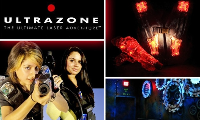 Ultrazone Laser Tag - Multiple Locations: $10 for a Three-Game Pass to Ultrazone, Panther, or Gearworks Laser Tag ($19.95 Value)