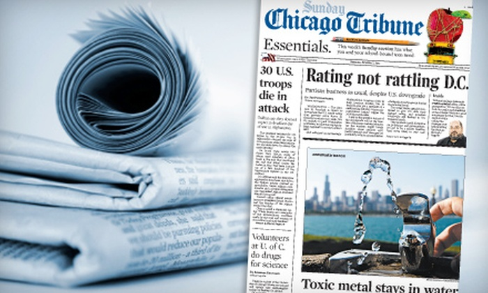 """Chicago Tribune"" - Multiple Locations: $20 for Sunday ""Chicago Tribune"" Home-Delivery Subscription (Up to $207 Value)"