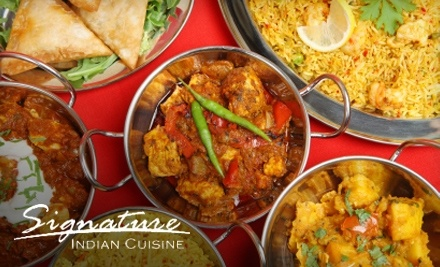 $25 Groupon to Signature Indian Cuisine - Signature Indian  Cuisine in Whitby