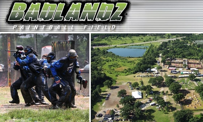 The Badlandz Paintball Field - Crete: $24 for Paintball Admission, Equipment, and 500 Paintballs at The Badlandz Paintball Field ($60 Value)