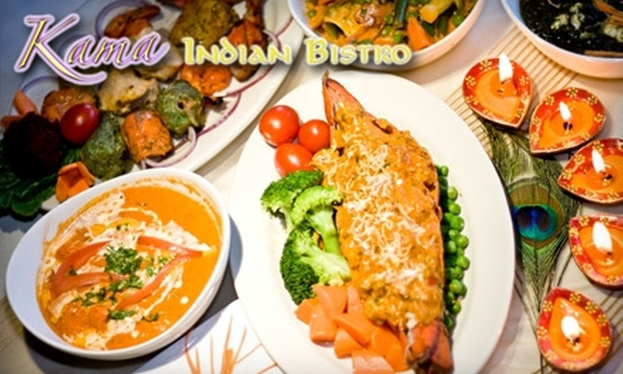 Kama Indian Bistro - La Grange: $15 for $30 Worth of Authentic Indian Cuisine and Drinks at Kama Indian Bistro