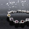14K White Gold Plated Rainbow Bracelets made with Swarovski Elements