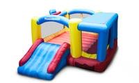PicassoTiles KC102 Jump & Slide & Dunk Bouncing Playhouse