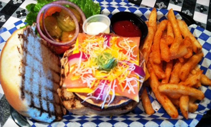 Old West Burgers - Northwest Side: Western-Style Burgers at Old West Burgers (Half Off). Two Options Available.