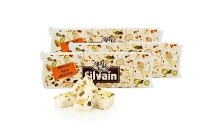 3 ou 6 barres de Nougat blanc Silvain, abricot, figue et pistache