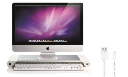 1 o 2 soportes para escritorio con opción a cable de 1 metro
