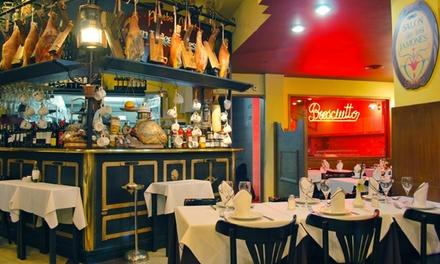 Desde $599 por almuerzo o cena para dos con entrada + plato principal + postre + bebida en Prosciutto. Elegí sucursal