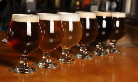 Beer Flight with Take-Home Glass for Two or Four at Groundswell Brewing Company (Up to 45% Off)