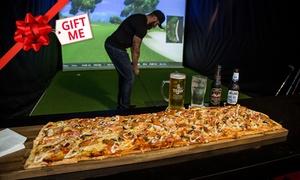 Slice Virtual Golf Surfers Paradise: Virtual Golf, Pizza and Beers for 2 ($39), 4 ($59) or 8 ($119) at Slice Virtual Golf Surfers Paradise (Up to $239)